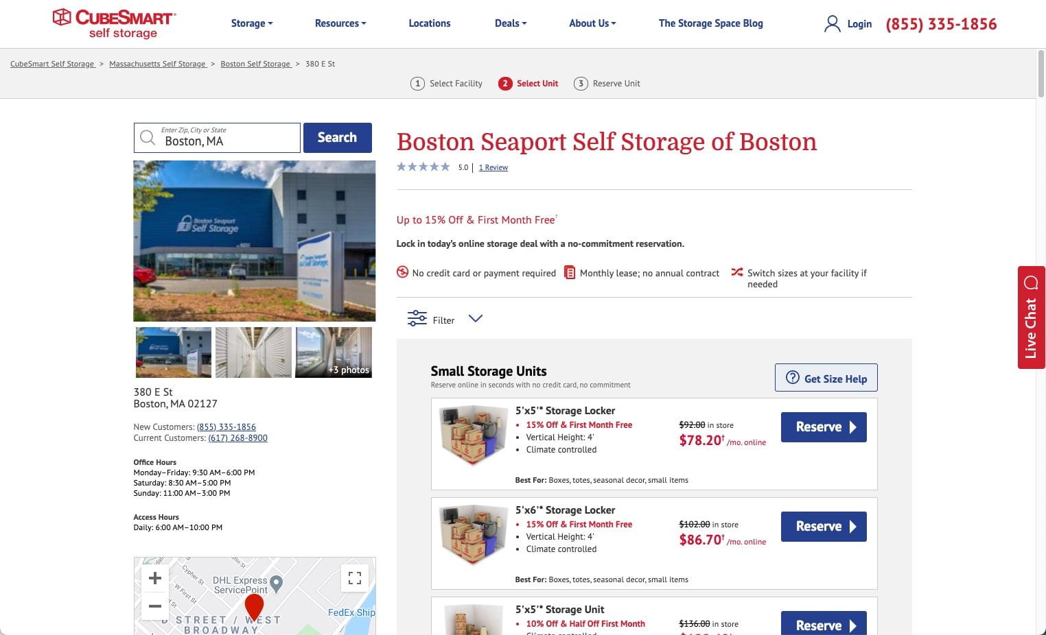 Boston Seaport Self Storage of Boston