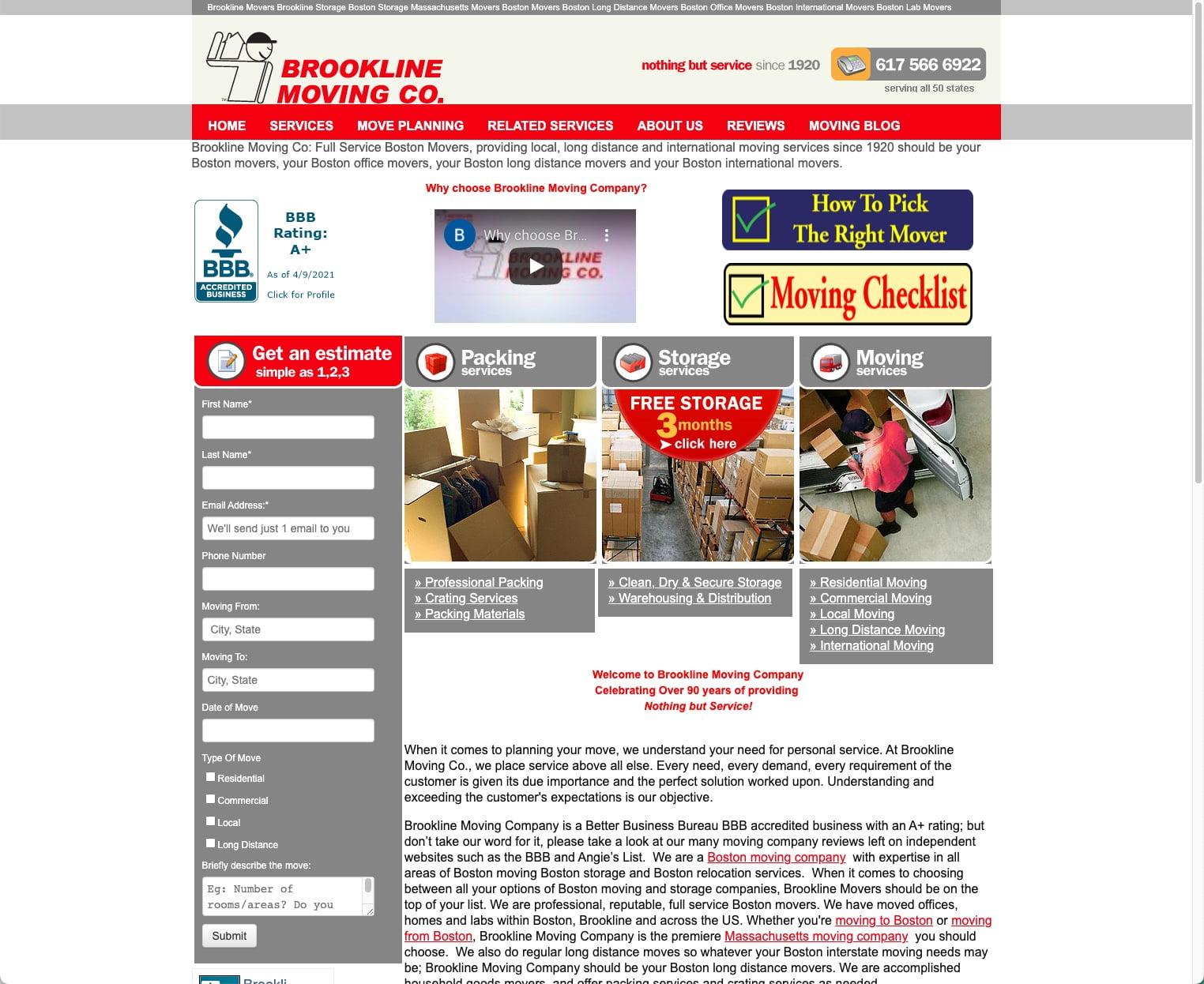 Brookline Moving Company