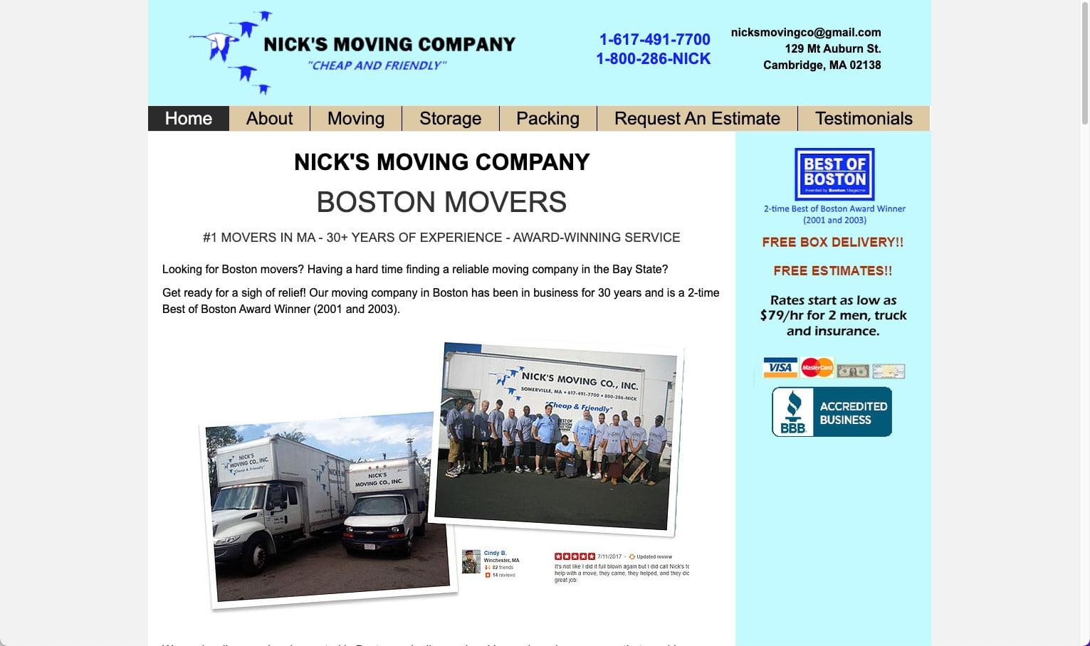 Nick's Moving Company