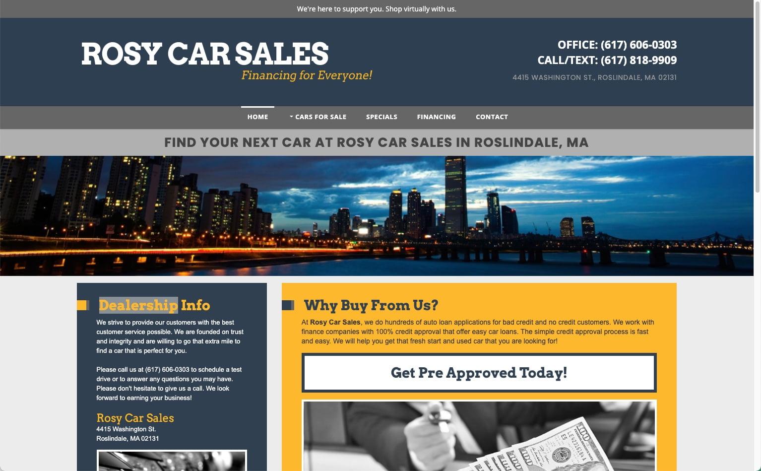 Rosy Car Sales